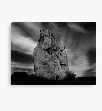 Avebury Stone in Black and White Canvas Print