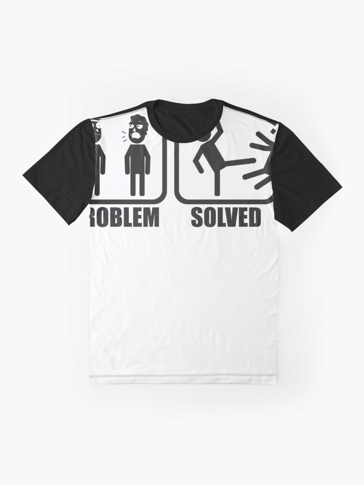Alternate view of Problem Solved Rick Kicking Jerry Graphic T-Shirt