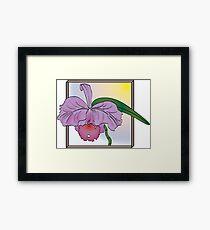 Silky Purple Cattleya Orchid Framed Print