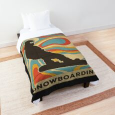 Snowboarding Vintage Retro Sports Comforter