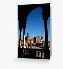 Plaza Espana, Sevila, Spain Greeting Card