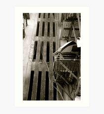 Stairwell slats Art Print