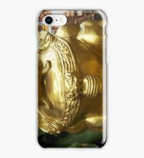 Golden Lion Statue iPhone Case/Skin