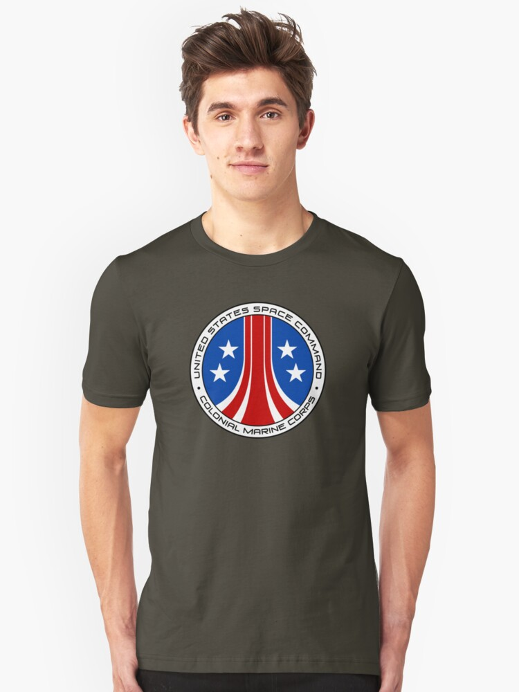 United States Colonial Marine Corps Insignia - Aliens Unisex T-Shirt Front