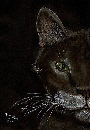 Grey Cat by Dawn B Davies-McIninch