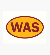 Washington - WAS - football - oval sticker and more Art Print