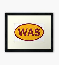Washington - WAS - football - oval sticker and more Framed Print