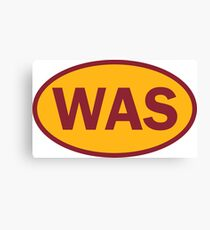Washington - WAS - football - oval sticker and more Canvas Print