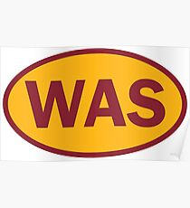 Washington - WAS - football - oval sticker and more Poster