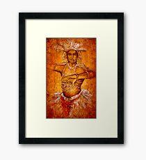 Kandyan dancer in a traditional costume- Sri lanka Framed Print