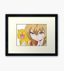 Palm top tiger Framed Print