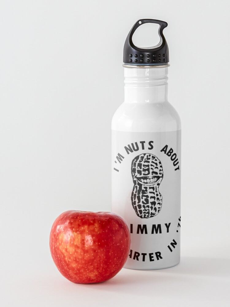 Alternate view of I'm Nuts About Jimmy - Carter 1976 Election Poster Water Bottle