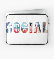 Social networks addicted !! Laptop Sleeve