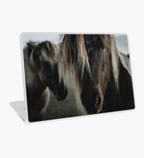 Close up straight look of horse Laptop Skin