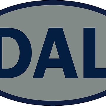 Dallas - DAL - football - oval sticker and more by welikesports