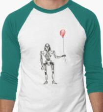 Cylon Centurion with Red Balloon Men's Baseball ¾ T-Shirt