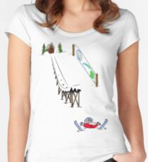 usa california skiier tshirt by rogers bros Women's Fitted Scoop T-Shirt