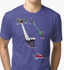 usa california skiier tshirt by rogers bros Tri-blend T-Shirt