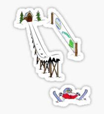 usa california skiier tshirt by rogers bros Sticker