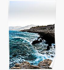 Waves & Rocks Poster