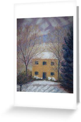 Farmhouse, Winter Dawn by Susan Genge