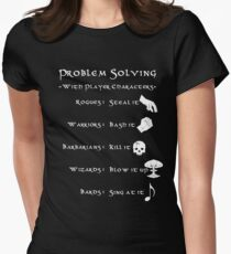 Problem Solving with Player Characters Women's Fitted T-Shirt