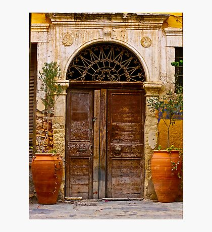 Doors - Chania - Crete - Greece. by Brown Sugar . F* . Views  1446.  This image Has Been S O L D . Photographic Print