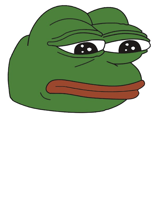 """""""Pepe the frog - Sad frog"""" Stickers by pepe-leaker 