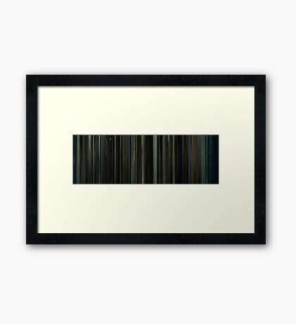 Moviebarcode: Fight Club (1999) Framed Print