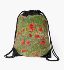 Poppies in the Fields...........Brimpton, Berks UK Drawstring Bag