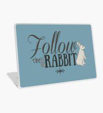 Follow the White Rabbit Laptop Skin