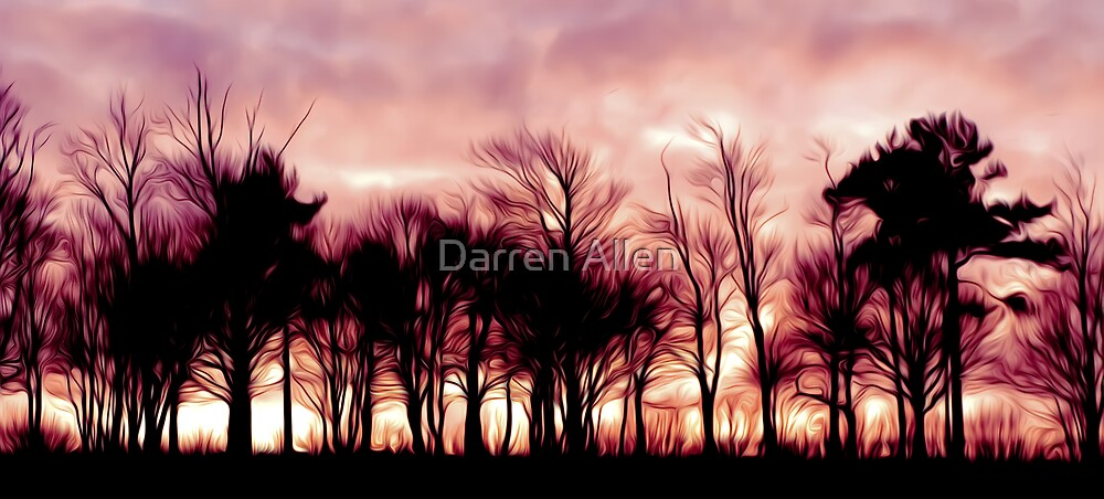 Burning Wood by Darren Allen