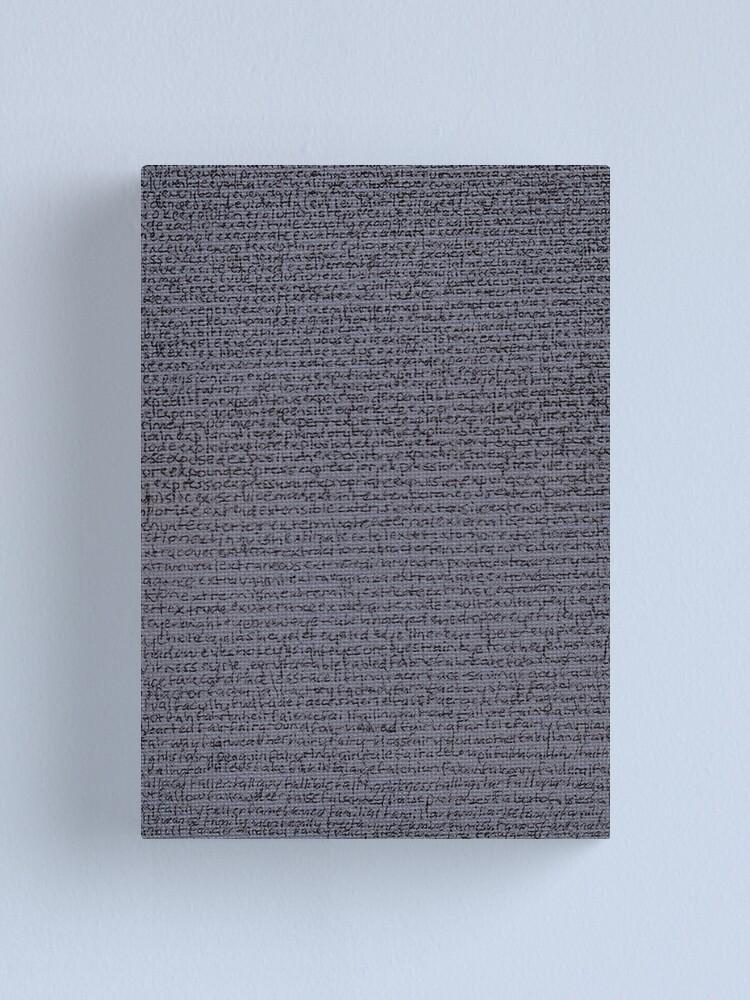 "Alternate view of ""Dictionary 20"" (evaporator-fancy man) Canvas Print"