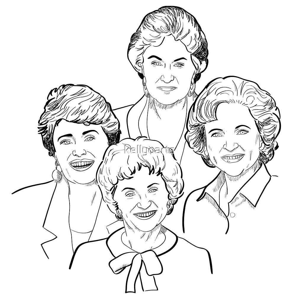 Golden Girls Sketch by kellyoarts