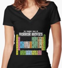 Periodic Table of Horror Movies Women's Fitted V-Neck T-Shirt