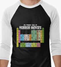 Periodic Table of Horror Movies Men's Baseball ¾ T-Shirt