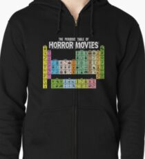 Periodic Table of Horror Movies Zipped Hoodie