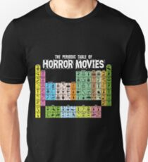 Periodensystem der Horrorfilme Slim Fit T-Shirt