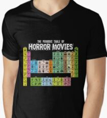 Periodic Table of Horror Movies V-Neck T-Shirt