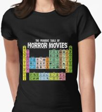 Periodic Table of Horror Movies Women's Fitted T-Shirt