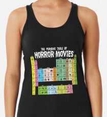 Periodic Table of Horror Movies Racerback Tank Top