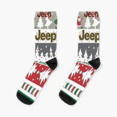 Jeep Christmas Socks
