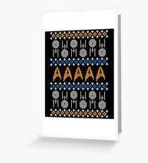 Hässlicher Trekkie-Pullover Grußkarte