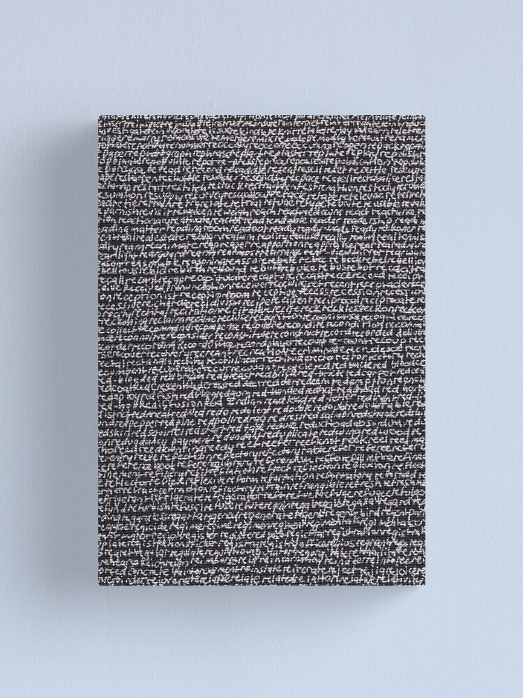 """Alternate view of """"Dictionary 53"""" (reheat-relevant) Canvas Print"""