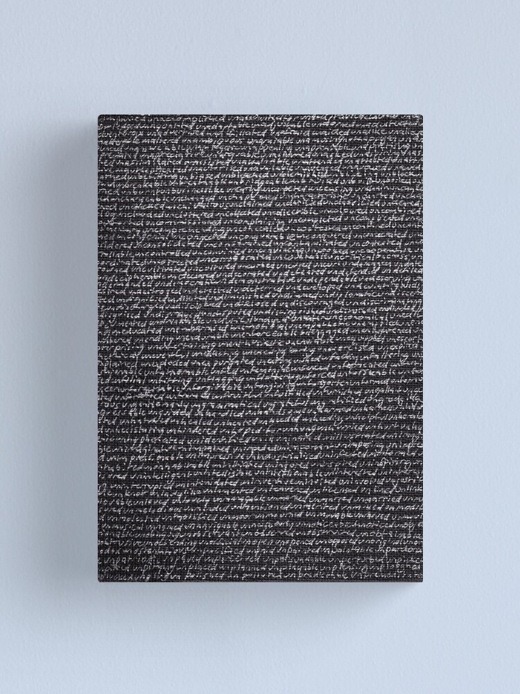 "Alternate view of Dictionary 65"" (unabashed-unpremeditated) Canvas Print"