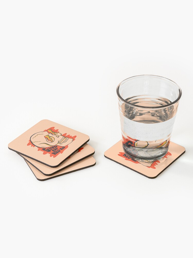 Alternate view of Give 'Em Hell Coasters (Set of 4)