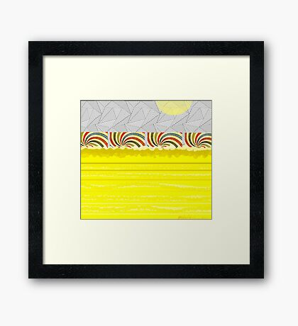 """""""Four at the Shore"""" Framed Print"""