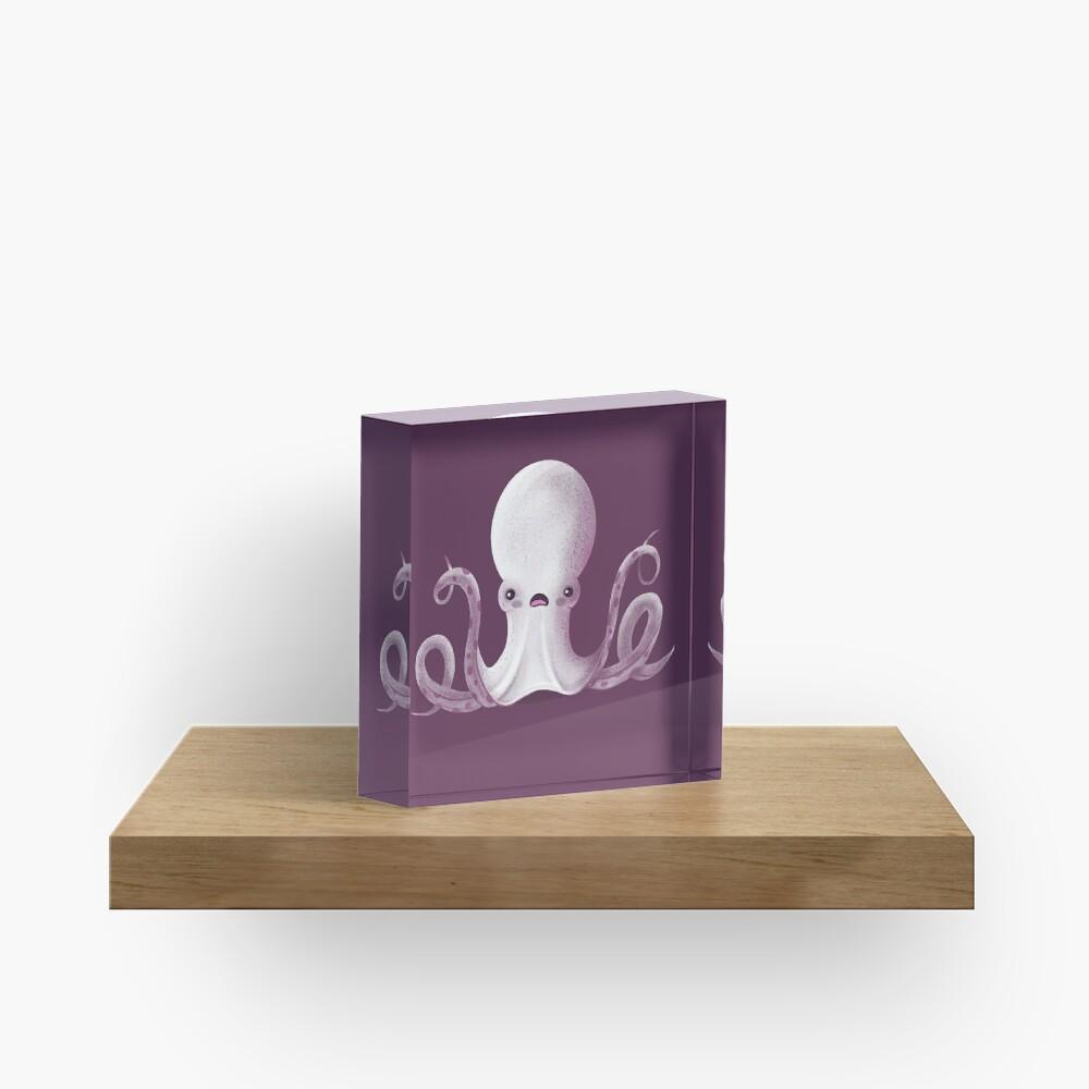 Ghostly Octopus Acrylic Block