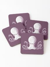 Ghostly Octopus Coasters