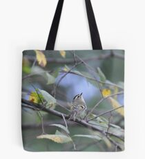 Kinglet Leer Tote Bag